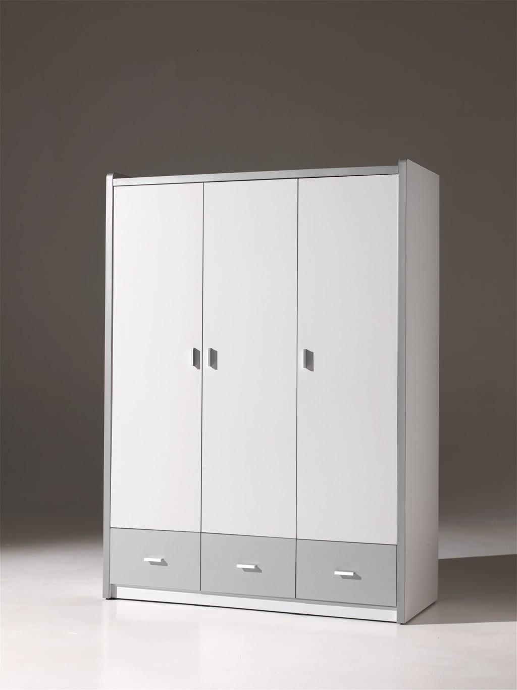 kleiderschrank bonny 3 t rig wei silbergrau kinder jugendzimmer bonny. Black Bedroom Furniture Sets. Home Design Ideas
