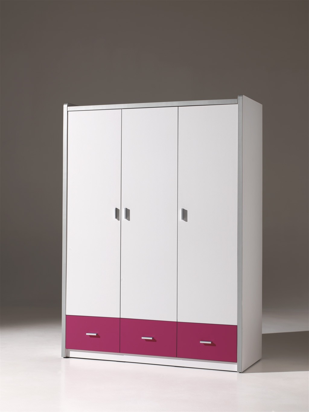 kleiderschrank bonny 3 t rig wei fuchsia kinder jugendzimmer bonny. Black Bedroom Furniture Sets. Home Design Ideas