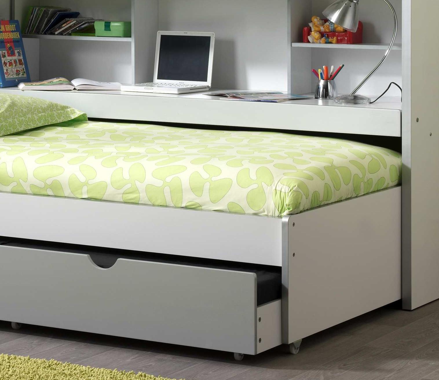 etagenbett bonny multifunktionsbett hochbett 2 liegefl chen 90x200 wei grau ebay. Black Bedroom Furniture Sets. Home Design Ideas