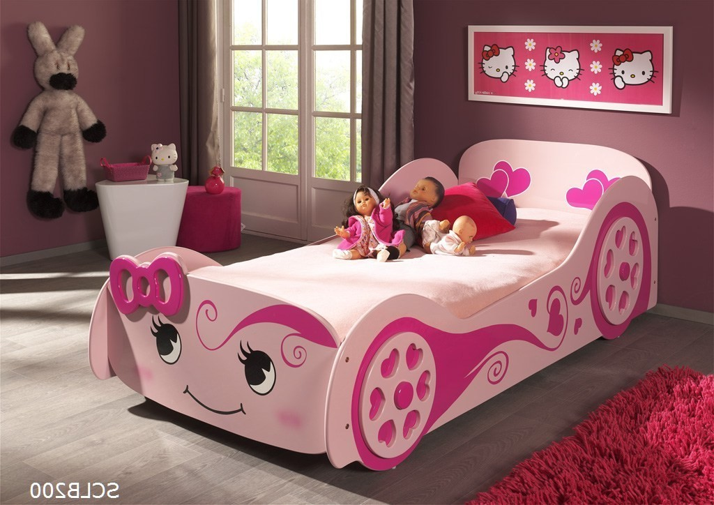 autobett pretty girl liegefl che 90 x 200 cm rosa kinder jugendzimmer lizzy. Black Bedroom Furniture Sets. Home Design Ideas