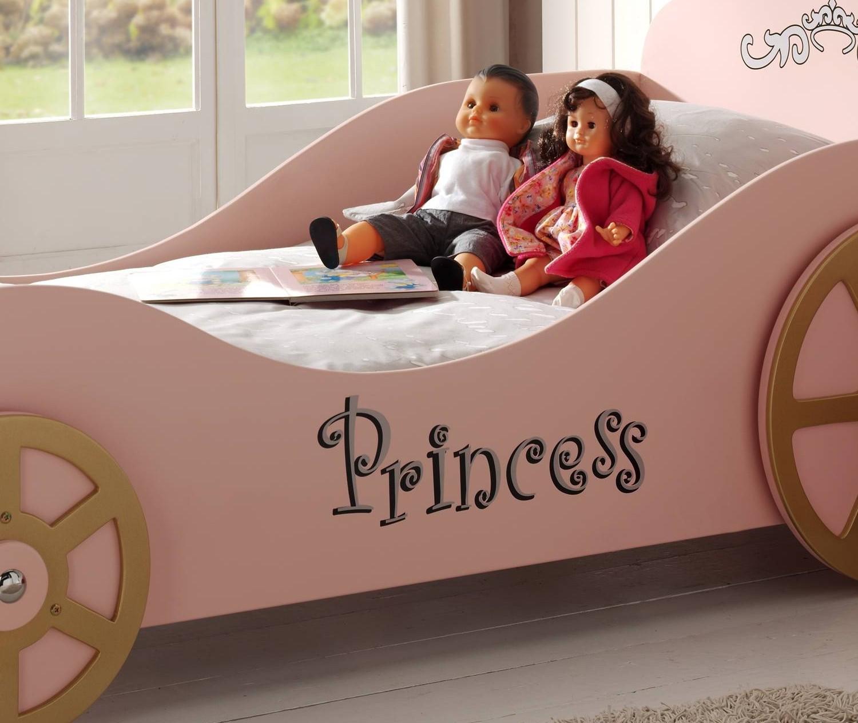 kutschenbett princess liegefl che 90 x 200 cm rosa kinder jugendzimmer lizzy. Black Bedroom Furniture Sets. Home Design Ideas