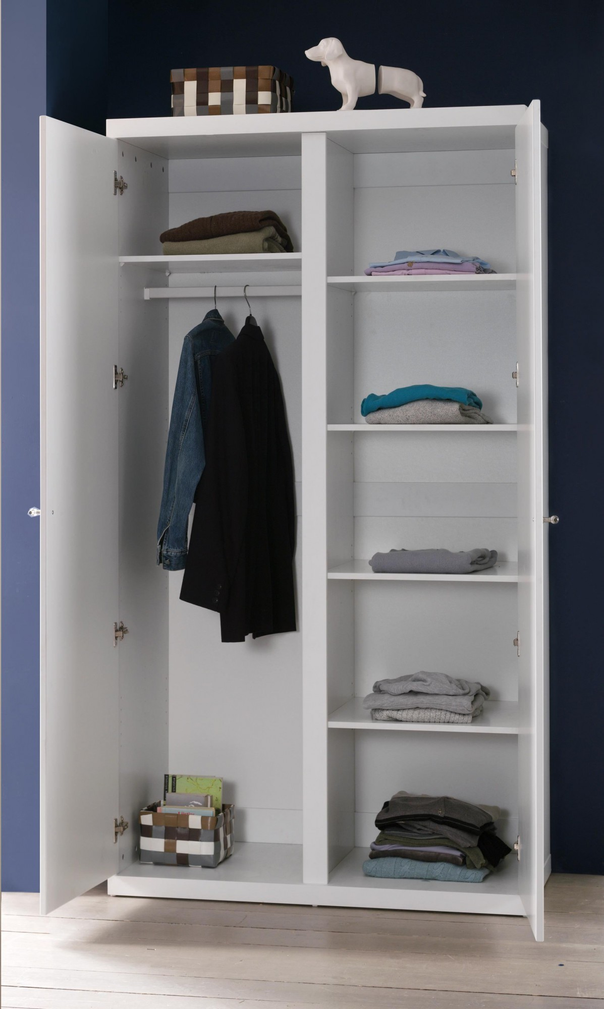 Kleiderschrank robin 2 t rig wei kinder for Jugendzimmer ratenkauf