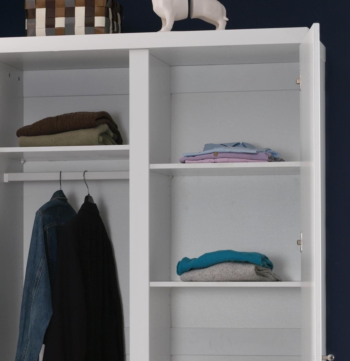 kleiderschrank robin 2 t rig wei kinder jugendzimmer robin. Black Bedroom Furniture Sets. Home Design Ideas