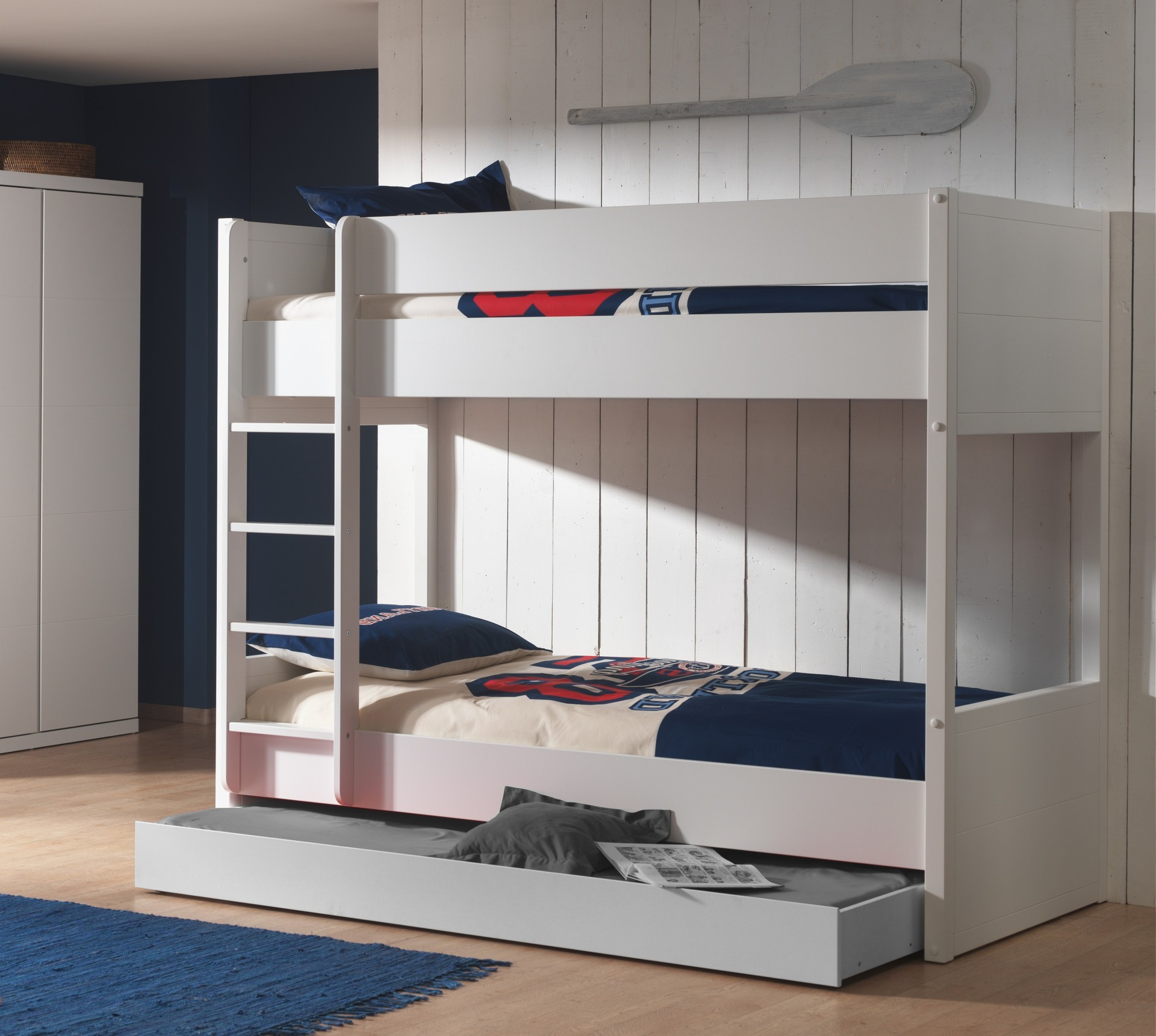 etagenbett lara 2 liegefl chen 90 x 200 cm wei kinder jugendzimmer lara. Black Bedroom Furniture Sets. Home Design Ideas
