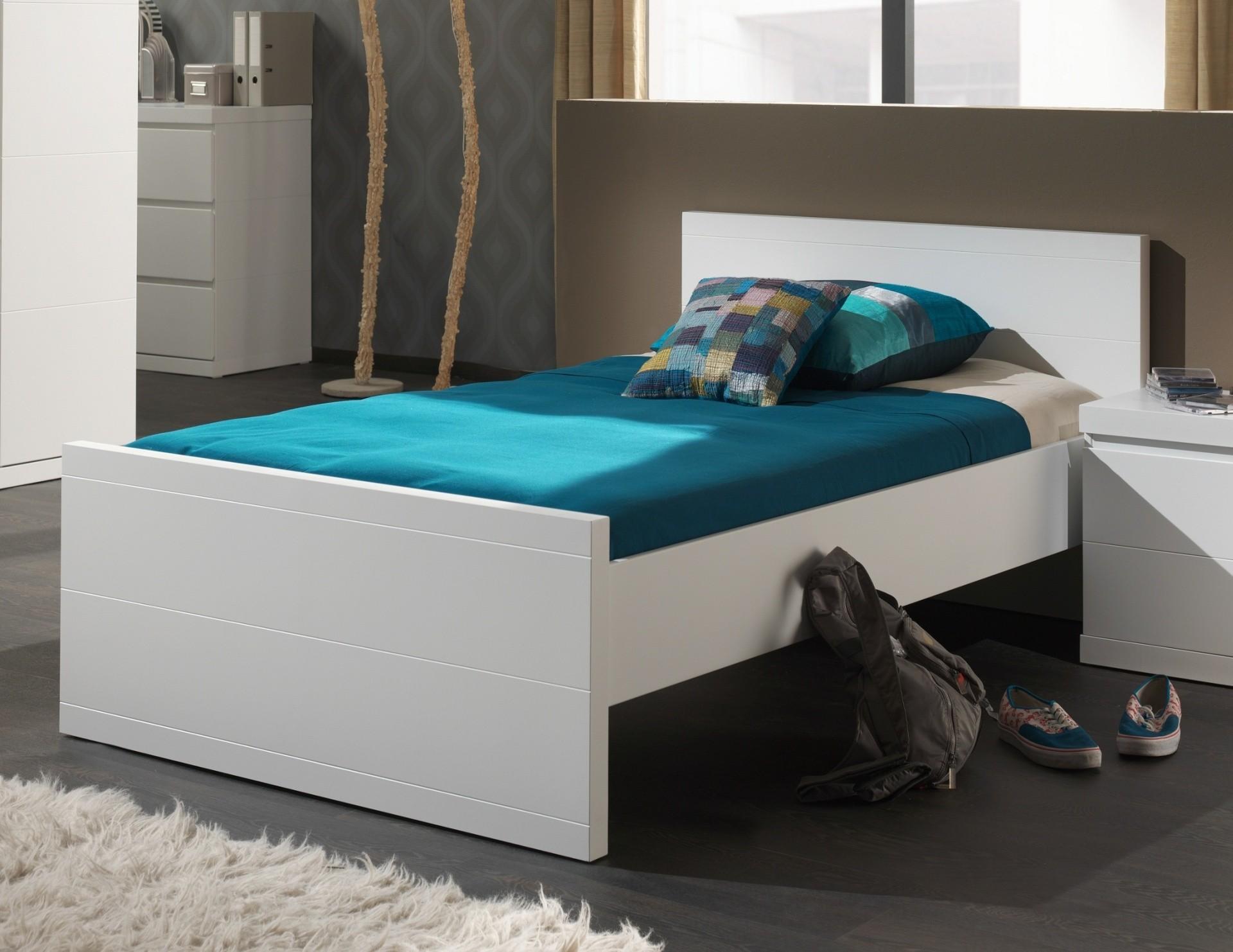 Einzelbett lara liegefl che 90 x 200 cm wei kinder for Jugendzimmer ratenkauf