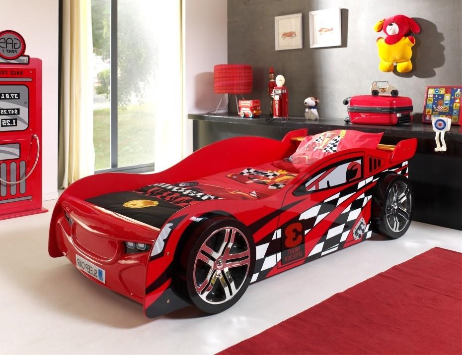 autobett night speeder liegefl che 90 x 200 cm rot kinder jugendzimmer autobetten. Black Bedroom Furniture Sets. Home Design Ideas