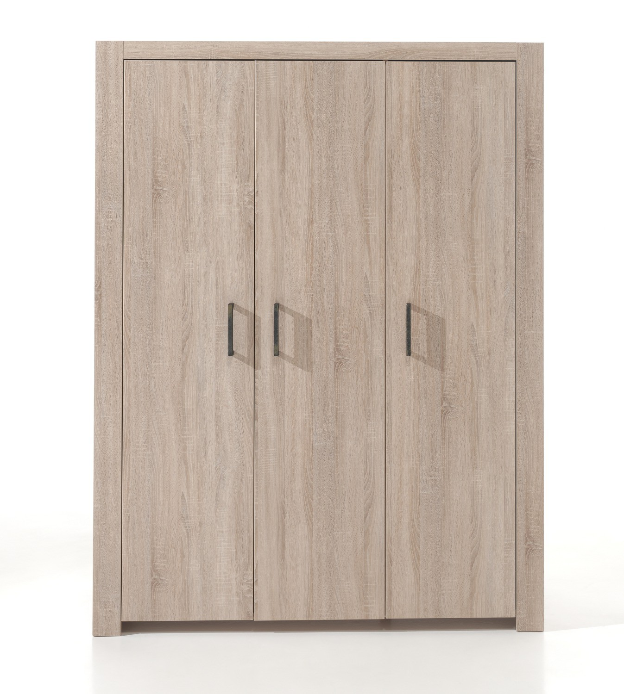 kleiderschrank aline 3 t rig eiche sonoma sonoma kinder jugendzimmer aline. Black Bedroom Furniture Sets. Home Design Ideas