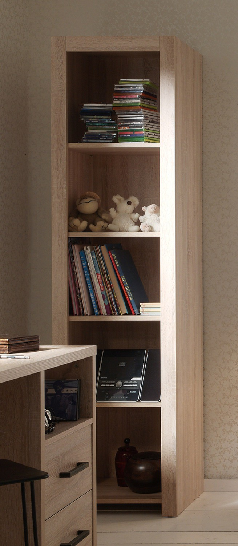 regal aline 5 f chern eiche sonoma sonoma kinder jugendzimmer aline. Black Bedroom Furniture Sets. Home Design Ideas