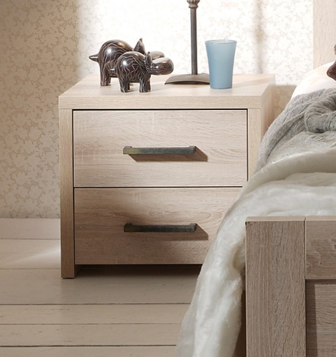 nachtkonsole aline 2 schubk sten eiche sonoma sonoma kinder jugendzimmer aline. Black Bedroom Furniture Sets. Home Design Ideas