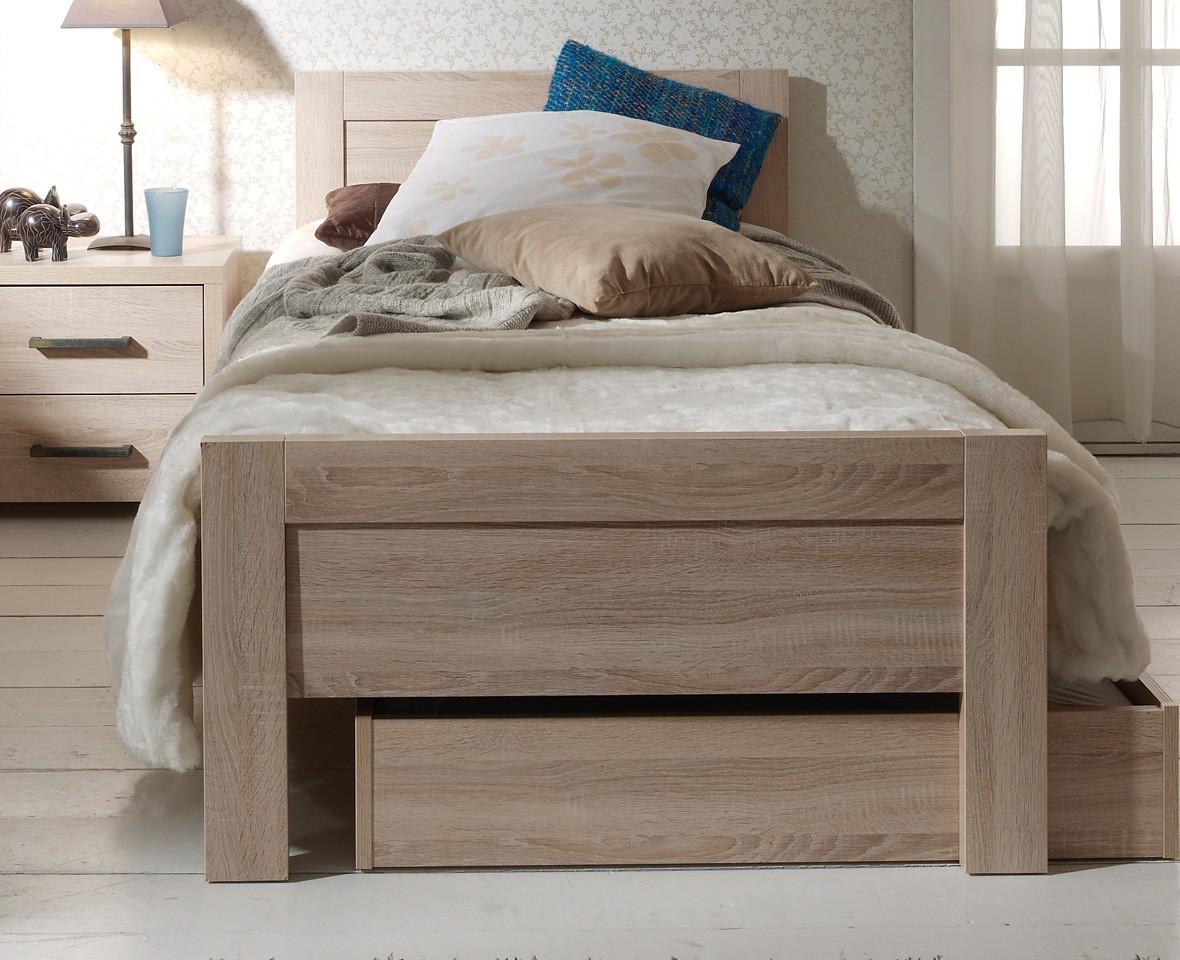 neu einzelbett aline kinderbett jugendbett 90 x 200 eiche sonoma ebay. Black Bedroom Furniture Sets. Home Design Ideas
