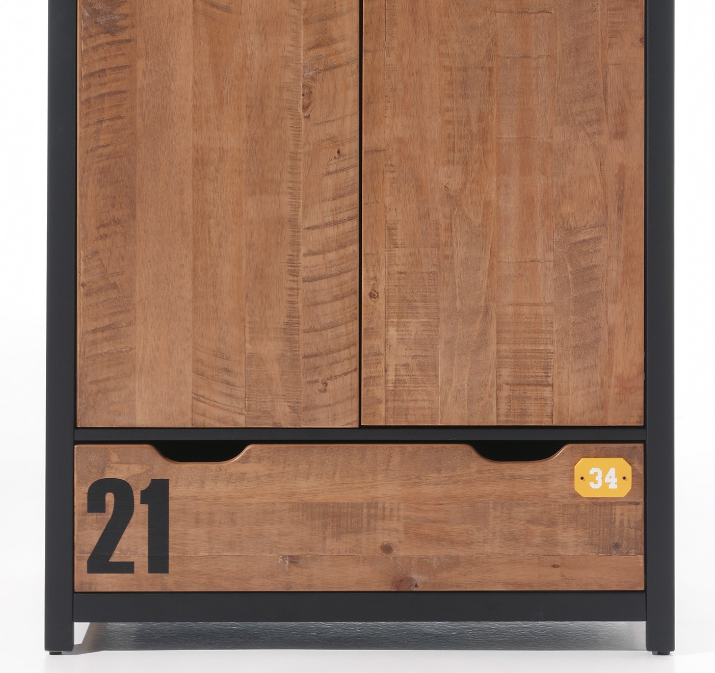 kleiderschrank alex 2 t rig kiefer cognacfarbig. Black Bedroom Furniture Sets. Home Design Ideas