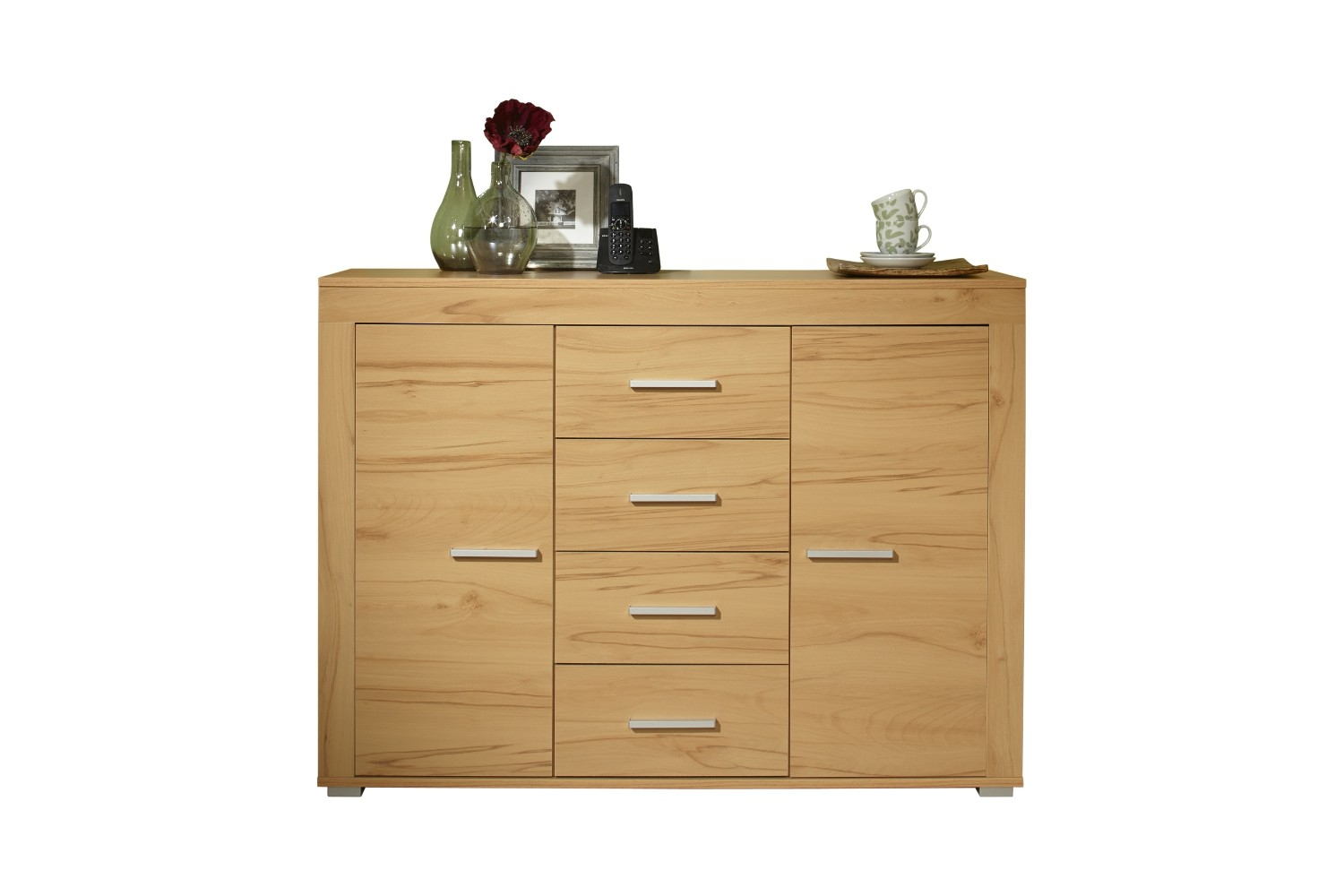 sideboard aosta 120 cm breit 2 t ren 4 schubladen kernbuche wohnen aosta. Black Bedroom Furniture Sets. Home Design Ideas