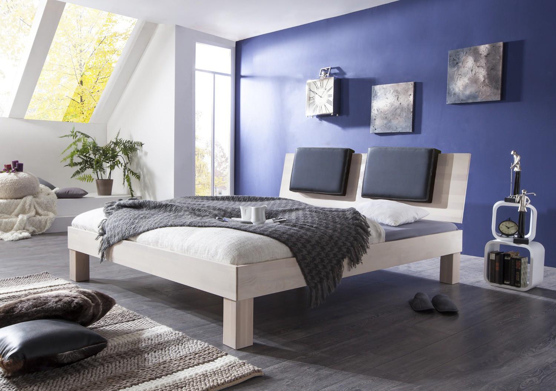 futonbett max liegefl che 140 x 200 cm massivholz white wash wohnen betten. Black Bedroom Furniture Sets. Home Design Ideas