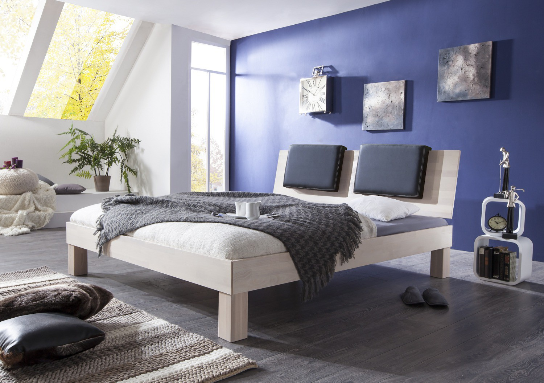 futonbett max liegefl che 90 x 200 cm massivholz white wash wohnen betten. Black Bedroom Furniture Sets. Home Design Ideas