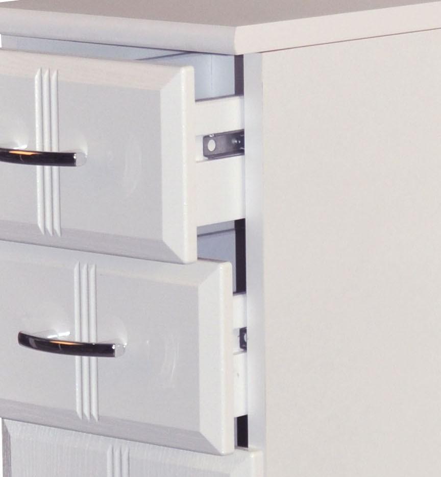 Badunterschrank weiß  Bad-Unterschrank ARTA - 2-türig, 1 Schublade - 50 cm breit - Weiß ...
