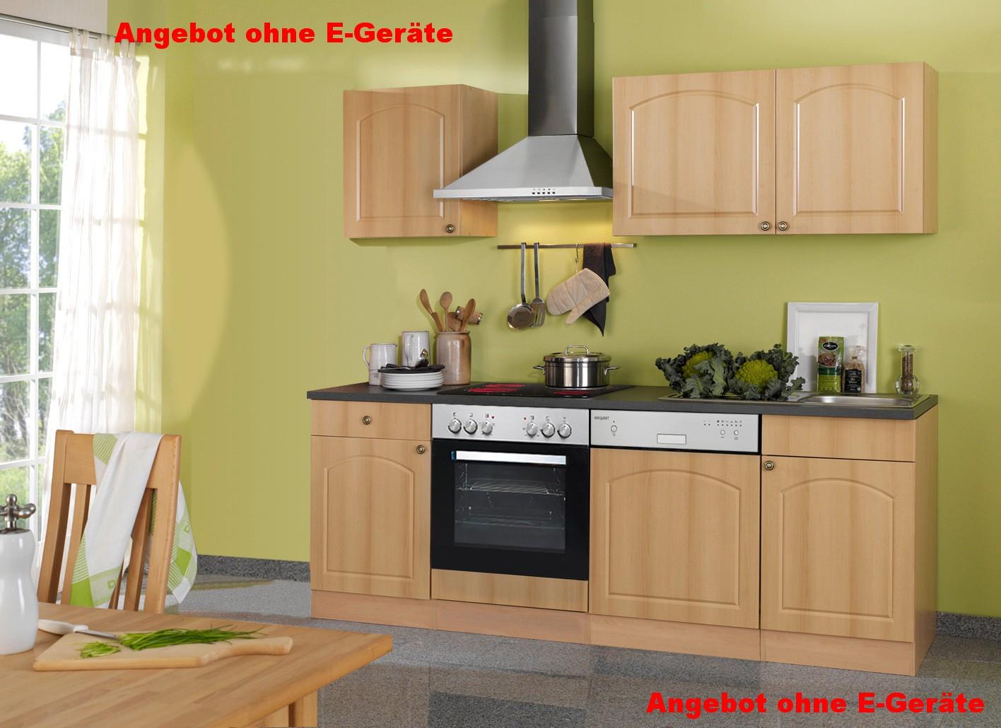 k chenzeile boston k chen leerblock breite 220 cm. Black Bedroom Furniture Sets. Home Design Ideas