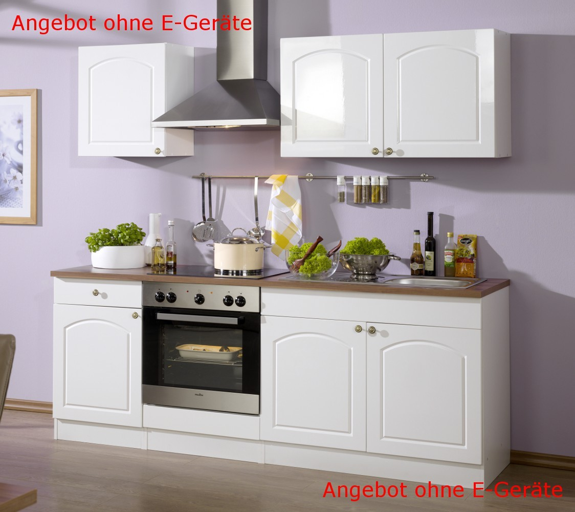neu k chen leerblock k chenzeile boston k chenblock 210cm weiss ebay. Black Bedroom Furniture Sets. Home Design Ideas