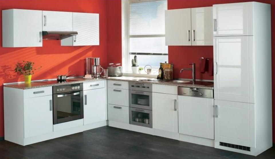 Küchen-Eckunterschrank VAREL - 1-türig - 110 cm breit - Hochglanz ... | {Eck unterschrank küche 79}