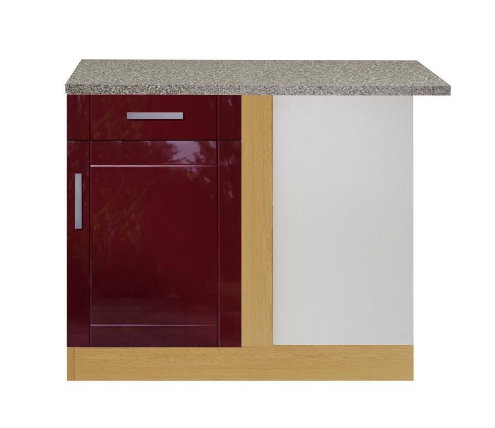 küchen-eckunterschrank varel - 1-türig - 110 cm breit - hochglanz