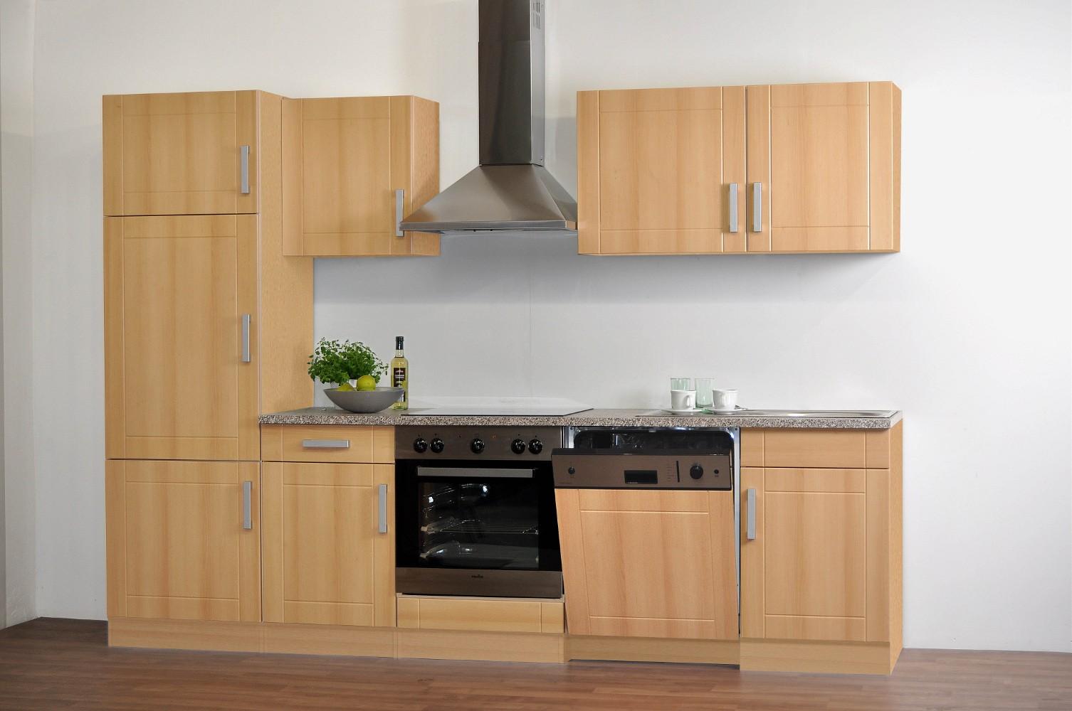 Küchen Unterschrank VAREL 2 türig 100 cm breit Buche