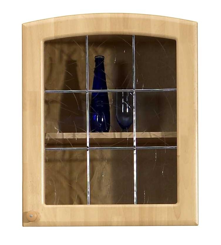 Küchenhängeschrank buche  Küchen-Hängeschrank RAUTE - Glas - 2-türig - 100 cm breit - Buche ...