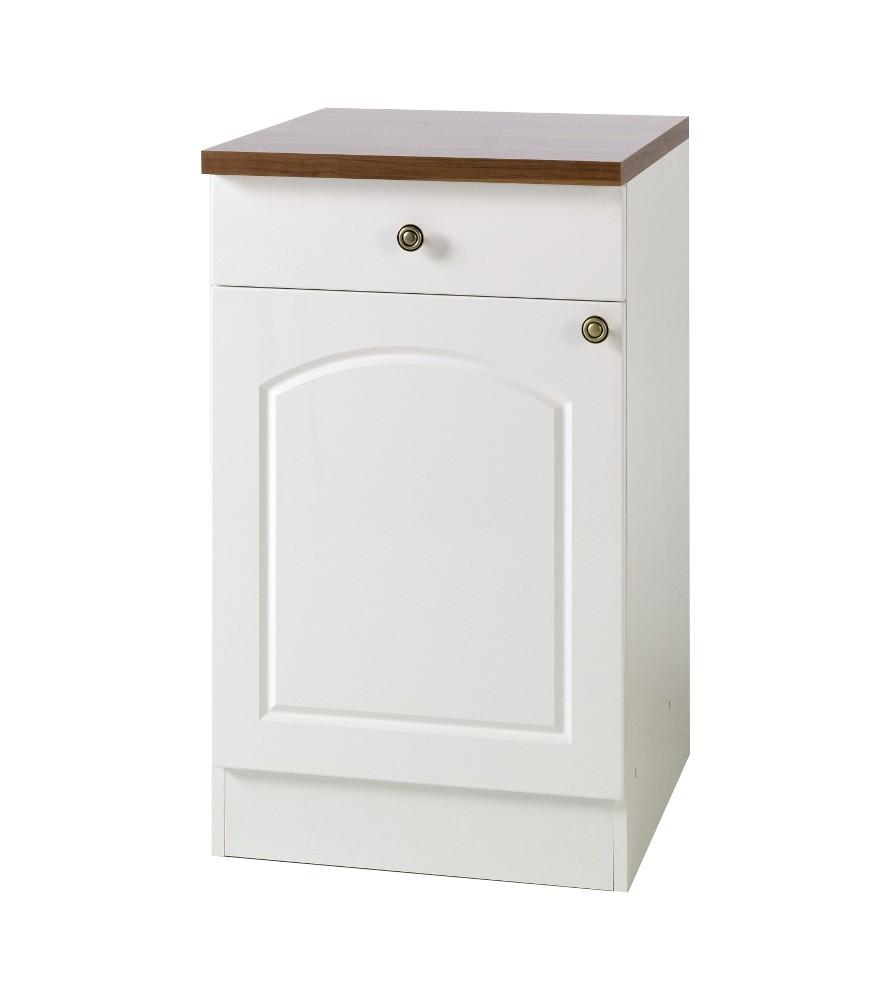 k chen unterschrank boston 1 t rig 50 cm breit hochglanz wei k che boston weiss. Black Bedroom Furniture Sets. Home Design Ideas