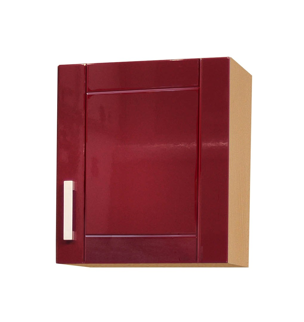 k chen h ngeschrank varel 1 t rig 50 cm breit hochglanz bordeaux rot k che varel rot. Black Bedroom Furniture Sets. Home Design Ideas