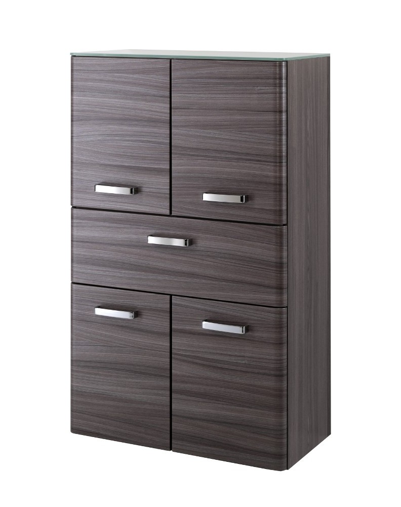 bad midischrank phoenix 4 t rig 1 schublade 70 cm breit eiche dunkel echtholzstruktur bad. Black Bedroom Furniture Sets. Home Design Ideas