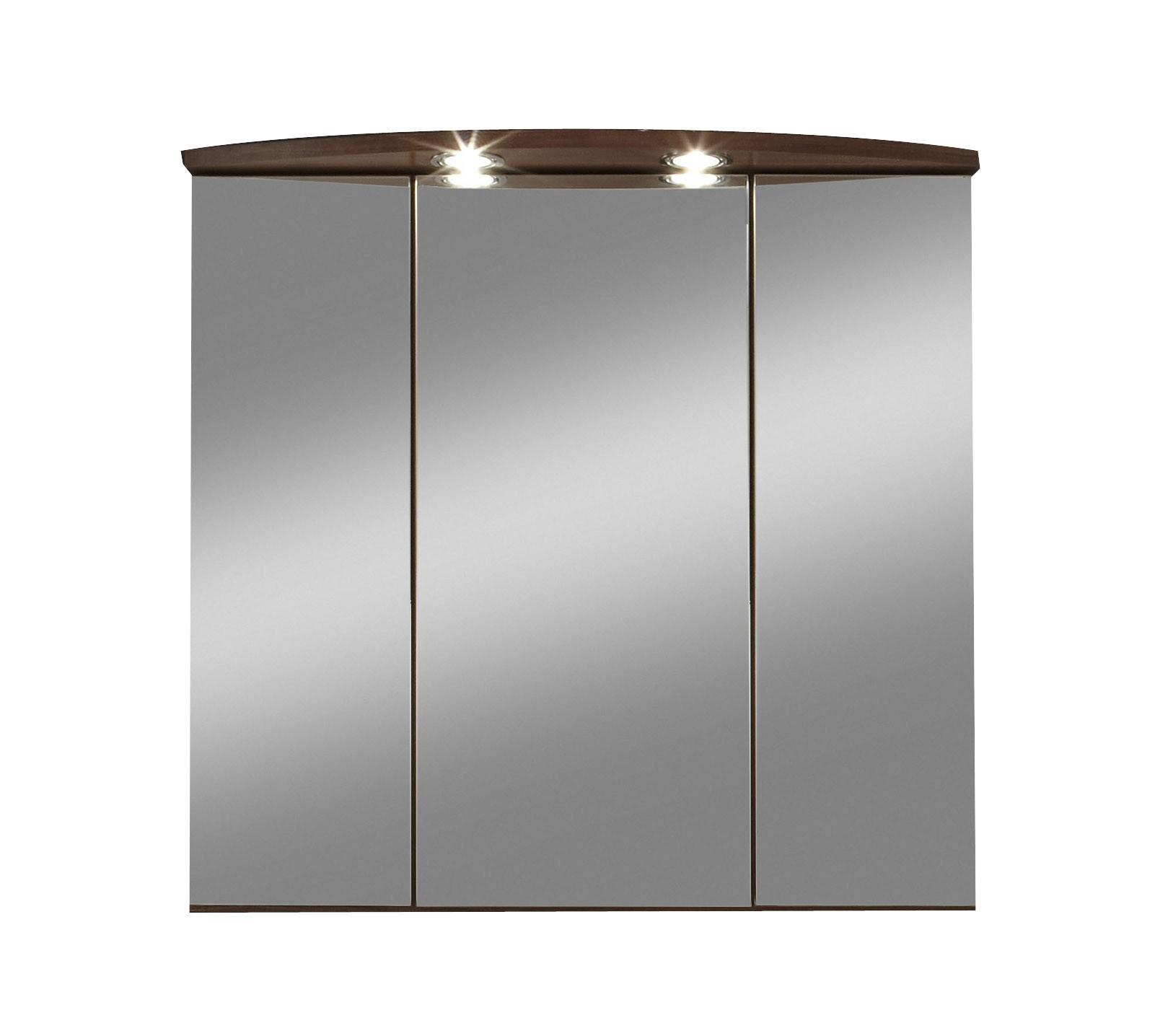 bad spiegelschrank next 3 t rig 70 cm breit nussbaum. Black Bedroom Furniture Sets. Home Design Ideas