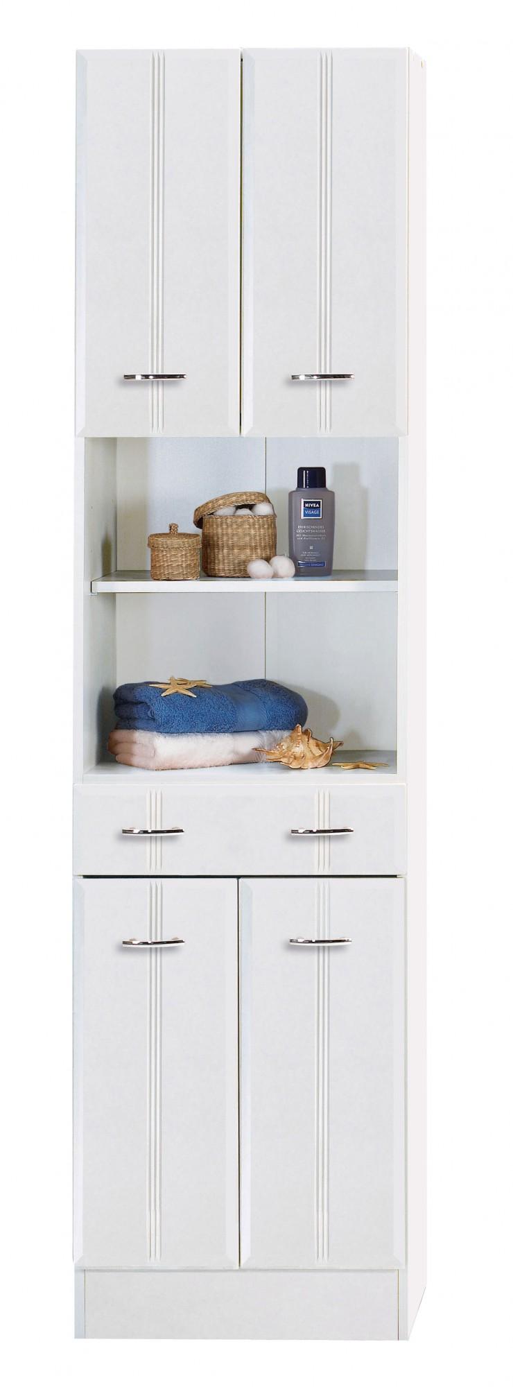 neu badezimmer hochschrank arta seitenschrank 50 cm weiss. Black Bedroom Furniture Sets. Home Design Ideas