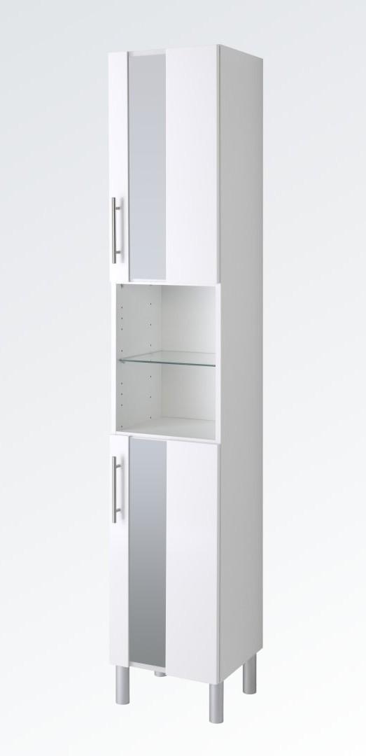 bad-hochschrank miami - 2-türig, 35 cm breit - hochglanz weiß bad