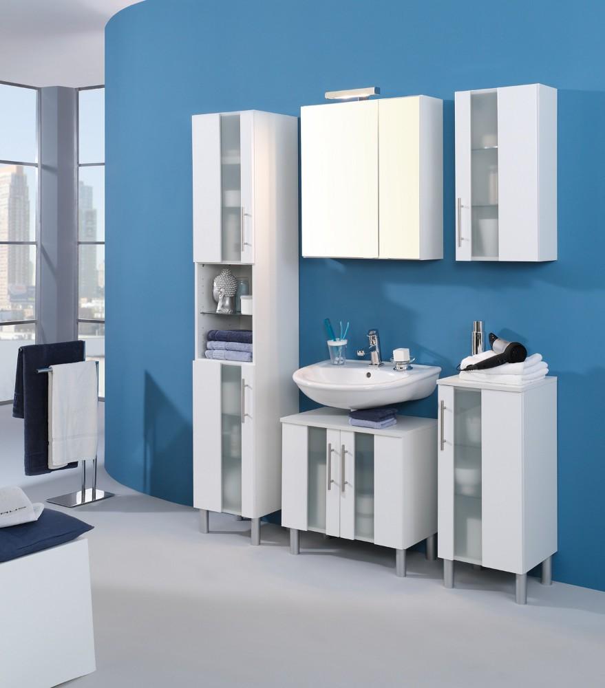 bad waschbeckenunterschrank miami 2 t rig 60 cm breit hochglanz wei bad miami. Black Bedroom Furniture Sets. Home Design Ideas