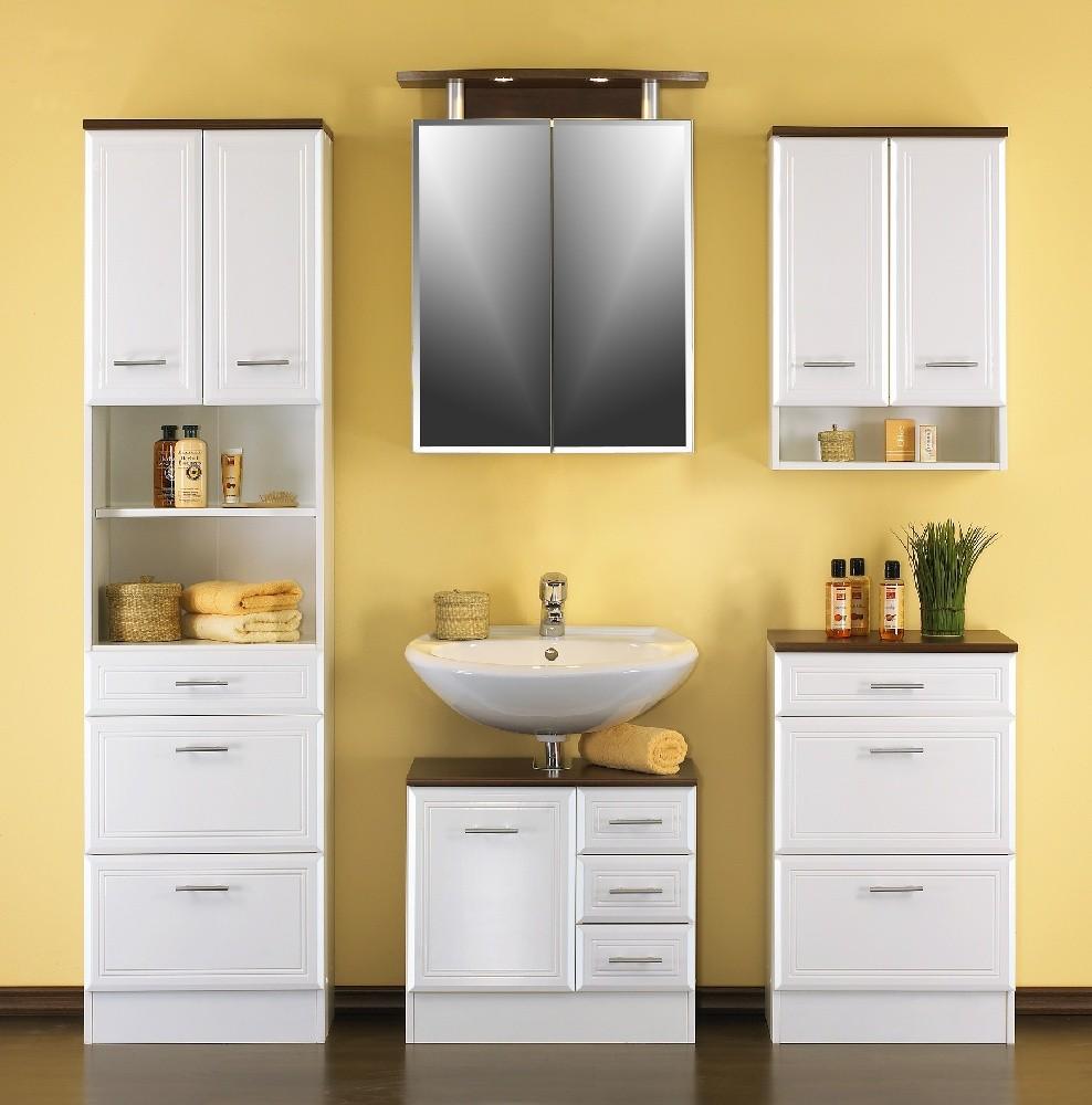 bad unterschrank neapel 3 ausz ge 50 cm breit hochglanz wei wenge bad neapel. Black Bedroom Furniture Sets. Home Design Ideas
