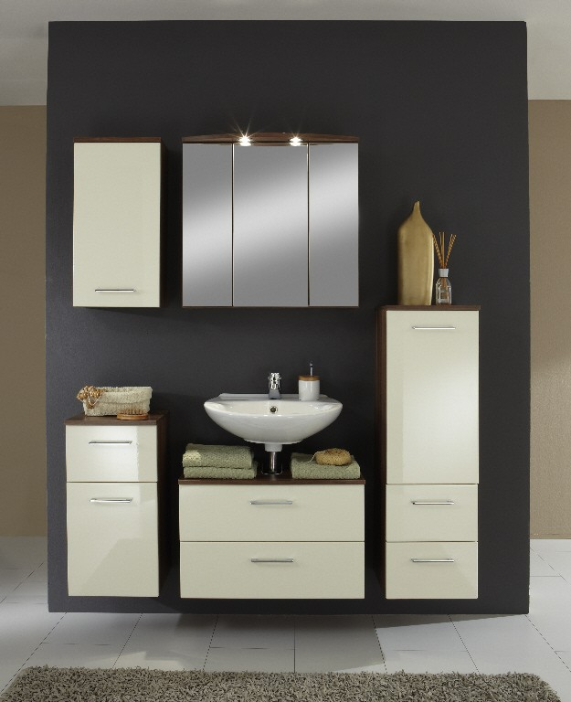 neu badezimmer unterschrank next badschrank badezimmerschrank creme ebay. Black Bedroom Furniture Sets. Home Design Ideas